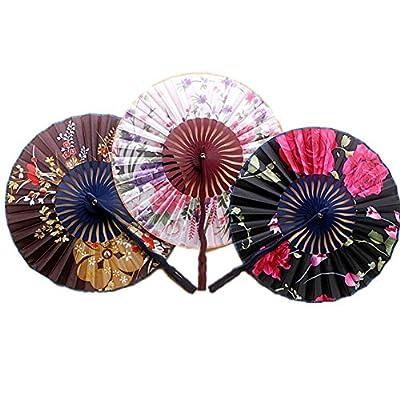 1 Pcs Beautiful Lady's Silk Hand Fan