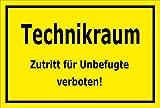 Melis Folienwerkstatt Aufkleber – Technikraum - 30x20cm – S00079-C - 20 Varianten