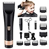 Tondeuse cheveux hommes pour tondeuses à cheveux rechargeables sans fil pour hommes & enfants tondeuse de précision fondue avec caractéristiques 5 lames réglables + 8 peignes de guidage LCD