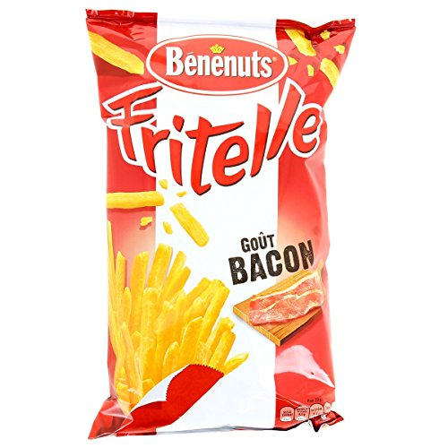 Benenuts Frit Elle Goût Bacon le Paquet 80 g - Lot de 5
