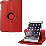 DMG iPad Air Case, 360 Degree Rotating Stand Case Cover with Auto Sleep/Wake Feature for Apple iPad Air (Red)