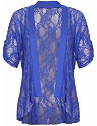 Purple Hanger - Veste Haut Cardigan Gilet Femme Floral Dentelle Ouvert Grande Taille