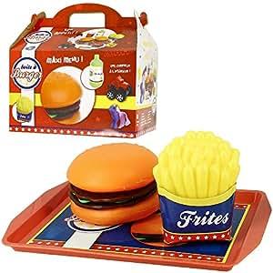 New York -Jouet Dinette Boite Hamburger Box Menu Enfant Fastfood Surprise Fille
