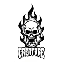 Creature Skateboad Sticker - Bonehead Skull - 17cm high approx. skate snow surf board bmx guitar ipad