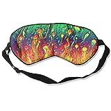 Sleep Eye Mask Abstract Liquid Colors Lightweight Soft Blindfold Adjustable Head Strap Eyeshade Travel Eyepatch