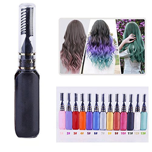 Hanyia Haare Färben Colorationen One-Time Temporary Hair Dye Dual-Headed Mascara Styling Cream Hair Color Pen Hair Tool (A11)