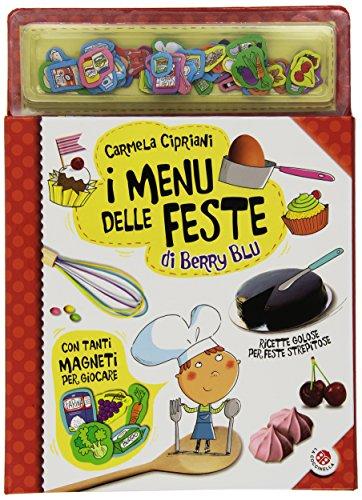 I menu delle feste di Berry Blu. Con magneti