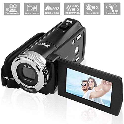 PowerLead PLD003 Videocámaras DV C8 16MP de Alta Definición Digital Video Camcorder Dv DVR 2.7' TFT LCD 16x Zoom HD Video Recorder Cámara de 1280 x 720p