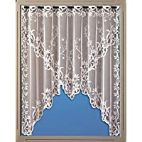 Bistrogardine Blume Mit Schlaufen Für Das Fenster Scheibengardine Weiss 2308
