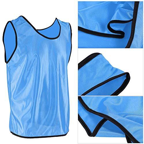 Alomejor 12er Training Lätzchen Scrimmage Trainingswesten Atmungsaktiv Erwachsene für Fußball Basketball Training Team Sport (Blau)