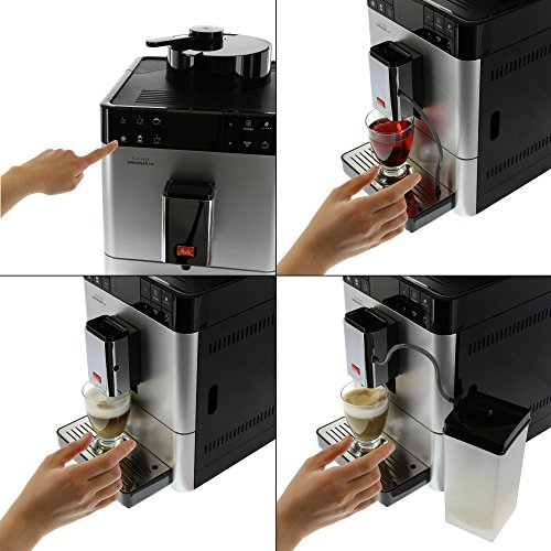 Melitta F57/0-101 silber Kaffeevollautomat Caffeo Varianza CSP (One Touch Funktion, LCD Farbdisplay, My Bean Select, Milchbehälter) -