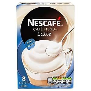 Nescafe Cafe Menu Latte Coffee, 8 Sachets - Pack of 6