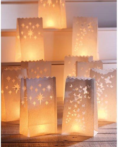 10 Lichttüten für LED-Teelichter