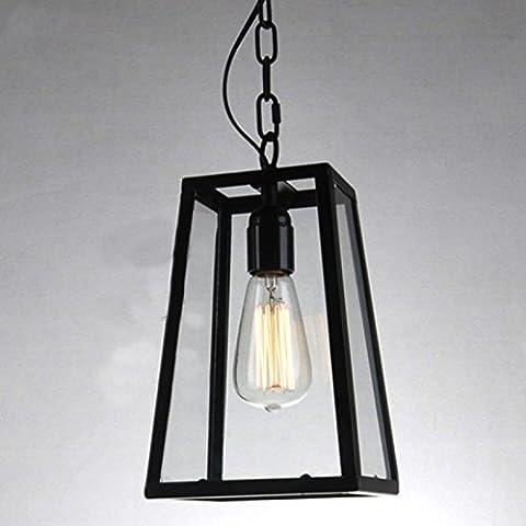 YUENLONG Il nero di seppia Ristorante Chandelier american bar-caffetterie di luce creativi vento industriale unica testa-lampadario in vetro