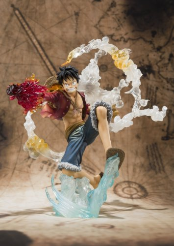 "Bandai Tamashii Nations Monkey. D. Luffy ""One-Piece"" FiguartsZERO Figure (Battle Version) (japan import) 4"