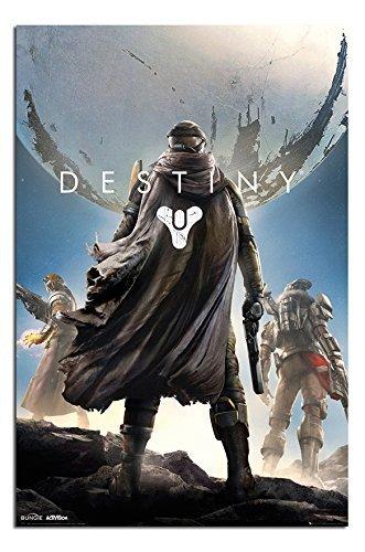 Destiny Videospiel Cover Plakat Satin Matt Laminiert - 91.5x 61cm (36 x 24 Zoll) Videospiel-poster 24x36