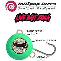 LOLLIPOP LURES ZOKA Ball Jig KABURA y Sistema de Cebo Live Bait ZOKA Full Luminous 140g