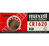 MAXELL-Juego de pilas de botón de litio, CR1620, blíster de 1