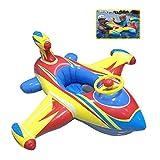 QIN-SUN Aufblasbarer Schwimmring für Baby-Flugzeug – aufblasbarer Schwimmring für Kinder von 6-48 Monaten (gelb)