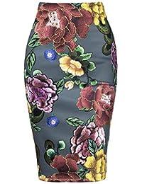 Otoño Las Mujeres Atractivas de la Cadera del Paquete Falda del lápiz de niña de Las Flores Bordado de la Alta Vestido de…