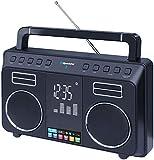 Roadstar TRA-800BT tragbares Stereo Bluetooth Radio schwarz