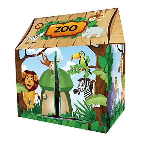 Homyl Verschiedene Themen Spielhaus Zelt Kinderzelt Spielzelt für Kinder Indoor Outdoor-Spiel - Zoo