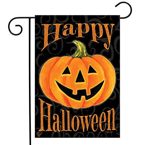 tende Jack-O-Lantern Halloween-Flagge, geschnitzt, Kürbis 31,8 x 45,7 cm ()