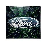Ford Motor logo in rasatello di cotone federa per cuscino (45,7x 45,7cm)