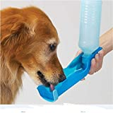 #3: Automotive Portable Water Dispenser for Pets - Pet Dog Cat Travel Water Drink Bottle (500 ML, BLUE)