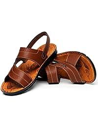 Beauqueen Homme à mi-âge à double usage Été Extérieur Pantoufles Sandales Clip Toe Casual Beach Chaussures antidérapantes Taille de l'UE 38-44