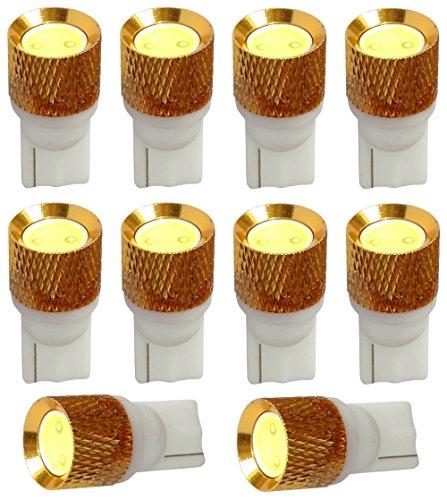Aerzetix: 10x ampoule T10 W5W 12V LED HIGH POWER 1.5W blanc effet xénon veilleuses éclairage intérieur plaque d'immatriculation seuils de porte plafonnier pieds lecteur de carte coffre compartiment moteur