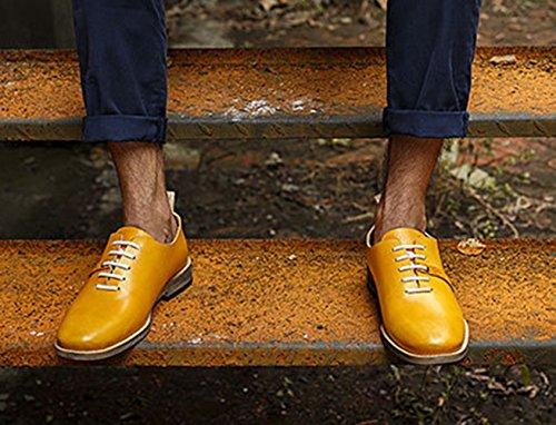 Insun , Chaussures de ville à lacets pour garçon Jaune
