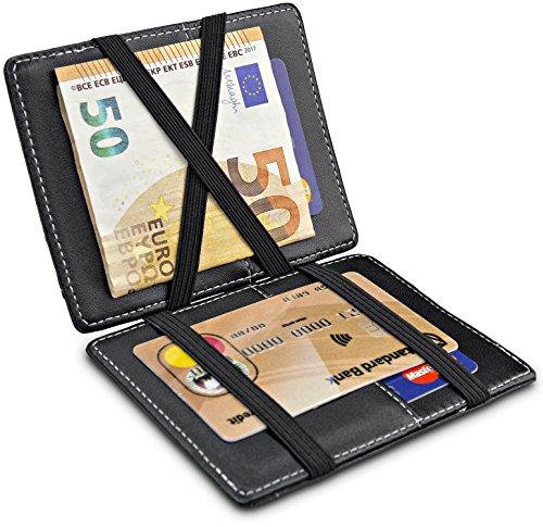 Travando ® portafoglio magico con portamonete vegas portafoglio uomo piccolo portafoglio sottile mini portafogli per uomo portafoglio uomo sottile portafoglio regalo carta di credito portacarte
