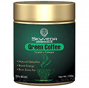 SKYVEDA ORGANICS Organic Green Coffee Beans Powder for Weight Loss Gastric Problem Best Fat Burner for Men and Women Like Green-Tea, 100g