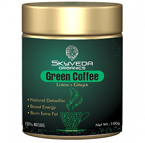 5) SKYVEDA ORGANICS Organic Green Coffee Beans Powder for Weight Loss and Gastric Problem Fat Burner for Men and Women...