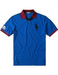 Ralph Lauren Golf Herren Polo-Shirt Baumwolle  AMP  Mix T-Shirt Unifarben, 1aebad7056a