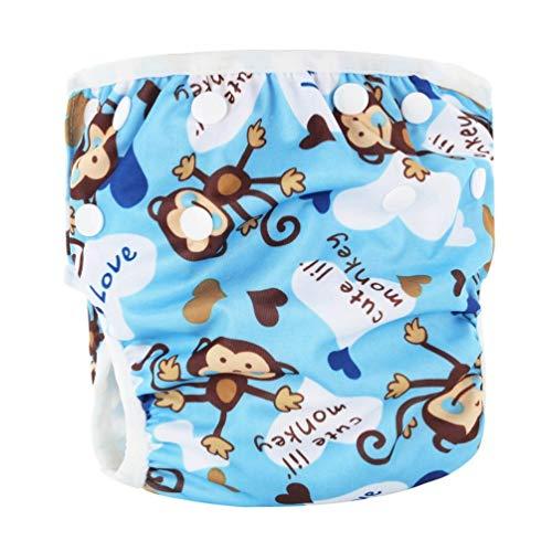 Waschbar Baby Unisex Einstellbare Schwimmwindel Pool Hose Wasserdicht Wiederverwendbare Baby Training Schwimmwindel Badeanzug-Multi-Color Mixed-1 Größe