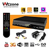 #6: wezone Digital Satellite Receiver 888 Plus Free to Air DVB-S2 Set Top Box Mpeg-4 Full HD with Wi-Fi Support