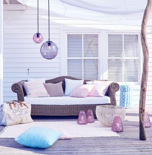 Kasandria® Outdoor-Sofa Grau meliert