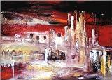 Posterlounge Alu Dibond 130 x 90 cm: Cityscape von Niksic Katarina