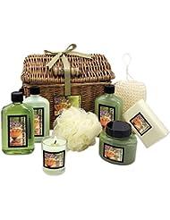 Set  arezzo, 255 ml, une lotion pour le corps, gel douche et bain moussant, bougie-peeling 215 ml, 200 g, savon...