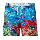 Fanient Boys Pantaloncini da Spiaggia per Bambini Pantaloncini da Surf per Bambini Costumi da Bagno per Costumi da Bagno Underwater World Pattern