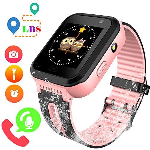 Reloj GPS Tracker Impermeable para Niños - Smartwatch Resistentes al Agua Teléfono...