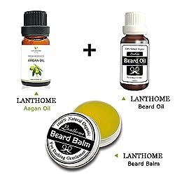 Lanthome Natural Beard Oil +organ oil Beard Hair Wax Balm organ oilic Beard Conditioner Leave in Styling Moisturizing Effect