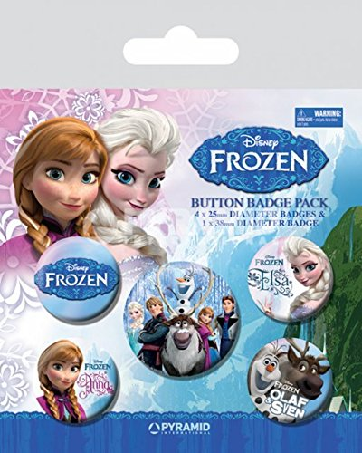 Disney Frozen 5-Button Badge Pack Disney Store-pins