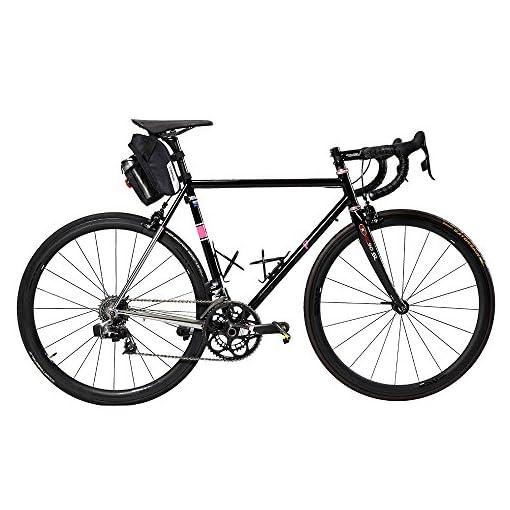 Roswheel Borsa della Sella per Bicicletta 1,8L con Fanale posteriore Impermeabile Sacchetto Posteriore Telaio da Bici Sedile con Tasca Porta-borraccia per Ciclismo/MTB/BICI