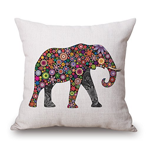 beautifulseason Elephant Christmas Pillowcase 16 X 16 Inches/40 by 40 cm Gift or Decor for Club Coffee House Deck Chair Kids Father Wife - Both Sides