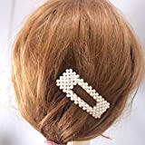 Gaddrt Haarnadel Frauen Mädchen Haarspangen Haarspange Kristall elegante Perle Haarnadel Haarspange Kopfschmuck 8x2.5cm (B)