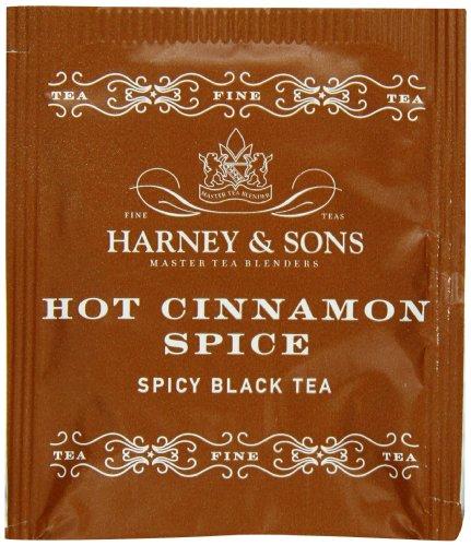 Harney & Sons caliente canela y especias té 100g (3.57oz (50bolsitas de té)