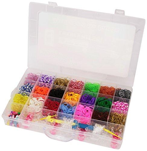 Loom Bands 5500 Teile Super-Starter-Set farbenfrohe Gummibänder + Webrahmen